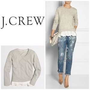 JCrew ruffle bottom sweatshirt